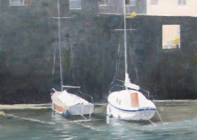 Newlyn, Sunlit Boats