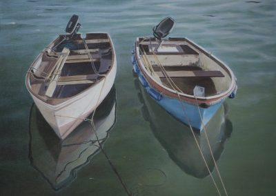 Two Sunlit Boats version 2