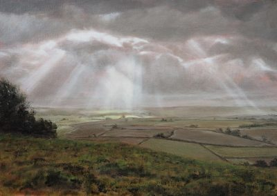 Crepuscular Rays at Whitesheet Hill